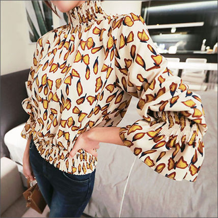 Shirts & Blouses Street Style Long Sleeves Other Animal Patterns Medium