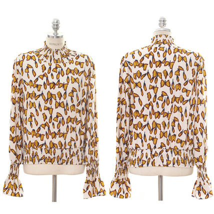 Shirts & Blouses Street Style Long Sleeves Other Animal Patterns Medium 5