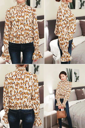 Shirts & Blouses Street Style Long Sleeves Other Animal Patterns Medium 7