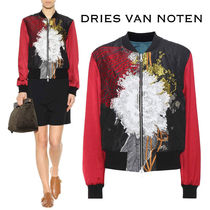 Dries Van Noten Short Flower Patterns Blended Fabrics Elegant Style