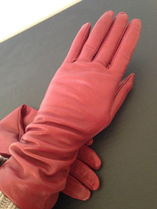 MCM Plain Leather Leather & Faux Leather Gloves