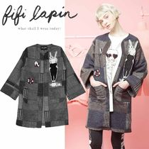 FIFI LAPIN Glen Patterns Other Check Patterns Casual Style Wool