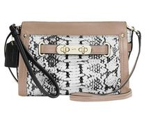 Coach SWAGGER 2WAY Bi-color Leather Python Elegant Style Shoulder Bags
