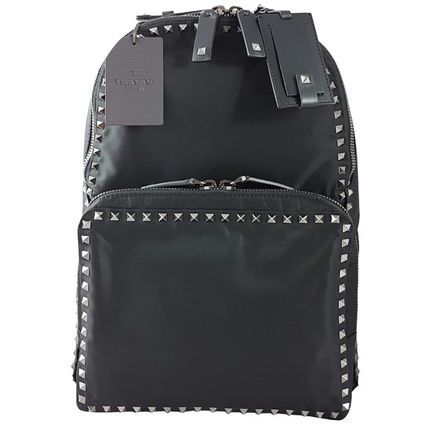 Black rock studded Backpack