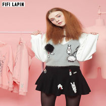 FIFI LAPIN Casual Style Other Animal Patterns Angola Knitwear