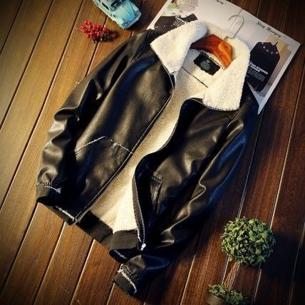 Mens jacket leather Jean with leather Ballina