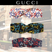 GUCCI Gucci Ghost Star Casual Style Silk Belts