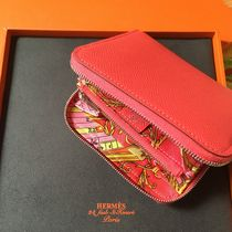 HERMES Picotin Leather Long Wallets