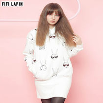 FIFI LAPIN Casual Style Other Animal Patterns Cotton Dresses