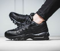 Nike AIR MAX 95 Casual Style Faux Fur Street Style Plain Low-Top Sneakers