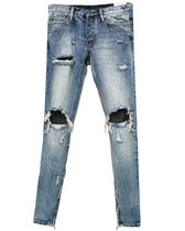 MNML Street Style Plain Cotton Skinny Fit Jeans & Denim