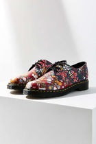 Dr Martens Flower Patterns Platform Plain Toe Casual Style Street Style