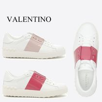 VALENTINO Leather Low-Top Sneakers