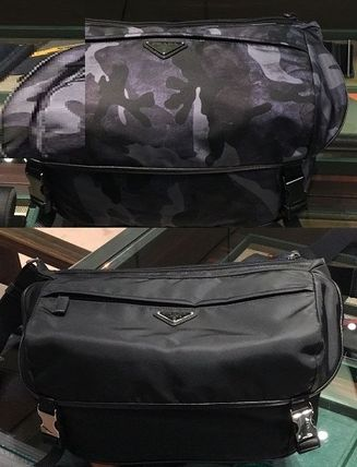 PRADA Camouflage Nylon 2WAY Plain Hip Packs