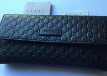 GUCCI Unisex Leather Long Wallets