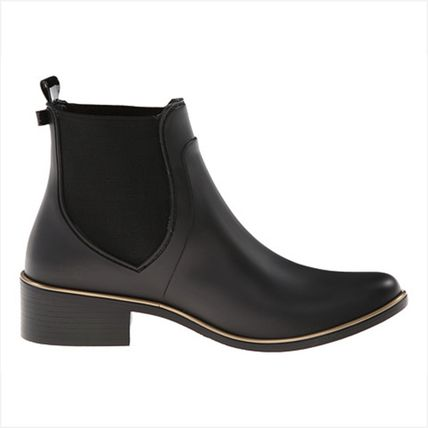kate spade new york Rubber Sole Casual Style Plain Chelsea Boots