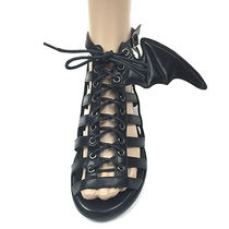 IRON FIST Open Toe Lace-up Casual Style Faux Fur Street Style Plain