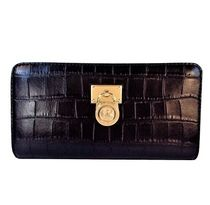 Michael Kors HAMILTON Other Animal Patterns Leather Long Wallets