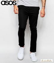 ASOS Street Style Plain Cotton Men Skinny Pants
