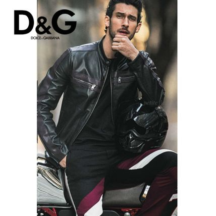 * Dolce & Gabbana * magazine / riders jacket/black