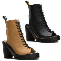 Dr Martens Lace-up Plain Leather Chunky Heels Lace-up Boots