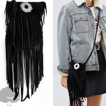 ASOS Casual Style Street Style Plain Leather Fringes