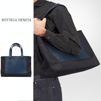 BOTTEGA VENETA Calfskin A4 2WAY Plain Totes
