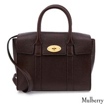 Mulberry 2WAY Plain Leather Office Style Shoulder Bags
