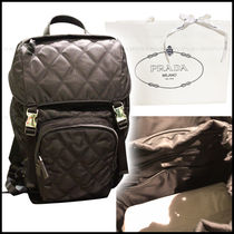 PRADA V135 Nylon A4 Backpacks