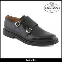 Church's Monk Round Toe Casual Style Plain Monk Stap Shoes