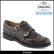Church's Monk Round Toe Casual Style Studded Plain Monk Stap Shoes