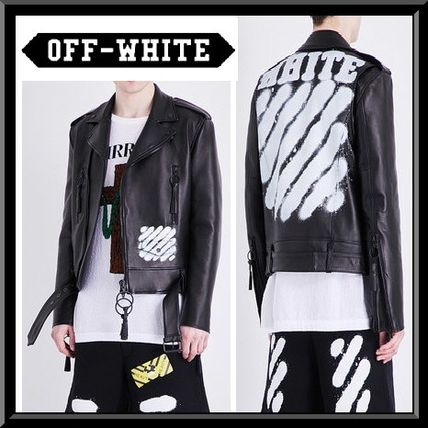 Over leather biker jacket