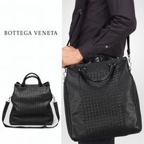 BOTTEGA VENETA Lambskin A4 2WAY Plain Totes
