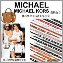 Michael Kors Flower Patterns Leather With Jewels Elegant Style Bags