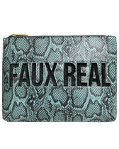 SKINNYDIP Casual Style Faux Fur Street Style A4 Python Clutches