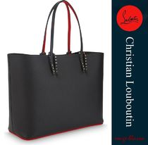 Christian Louboutin Unisex A4 2WAY Plain Leather Totes