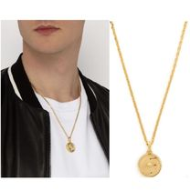 VERSACE Unisex Street Style Chain Metal Necklaces & Chokers