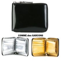 COMME des GARCONS Unisex Plain Leather Folding Wallets