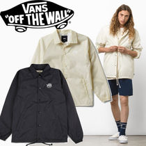 VANS Short Street Style Bi-color Plain Coach Jackets
