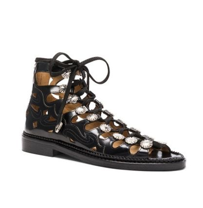 TOGA sandal metal Concho-studded lace up