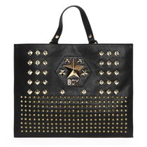 BOY LONDON Casual Style Faux Fur Studded Street Style Shoulder Bags