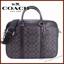 Coach SIGNATURE 2WAY Leather Business & Briefcases