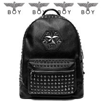 BOY LONDON Unisex Faux Fur Backpacks