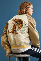 ALPHA INDUSTRIES Short Street Style Other Animal Patterns Souvenir Jackets