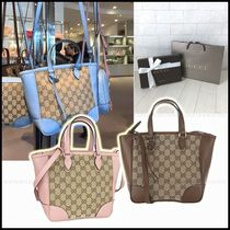 GUCCI Monogram Casual Style Canvas 2WAY Totes