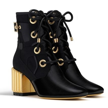 clearance best sale marketable online Christian Dior Leather Platform Booties cheap discounts iYGiO
