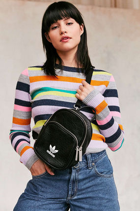 adidas Backpacks Casual Style Faux Fur Street Style 2WAY Plain Backpacks 6  ... 045fcce454a23