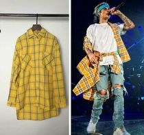 Other Check Patterns Oversized Shirts