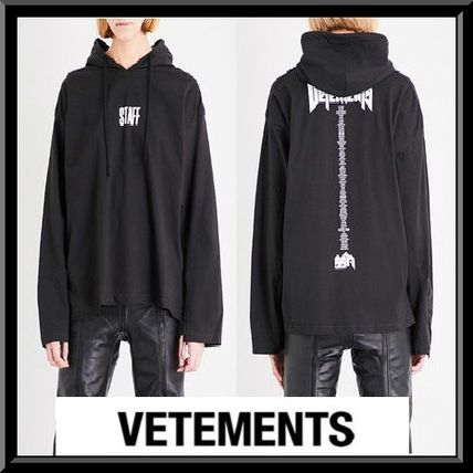 VETEMENTS Pullovers Street Style U-Neck Collaboration Plain Cotton