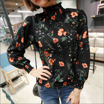 Flower Patterns Street Style Long Sleeves Medium